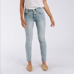 Levis 501 skinny jeans in towards the sun